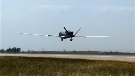 A-Usaf-Northrop-Grumman-Rq4-Global-Hawk-Lands-At-An-Air-Base