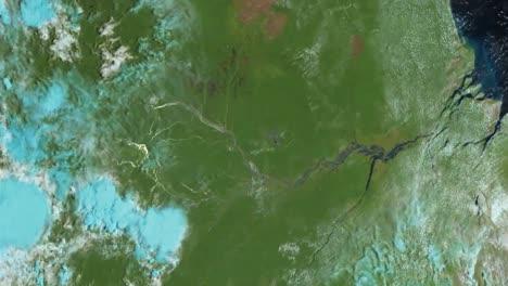 Imágenes-De-Un-Satélite-Noaa-Muestran-El-Amanecer-Y-La-Luz-Del-Sol-Que-Se-Extienden-Sobre-El-Amazonas