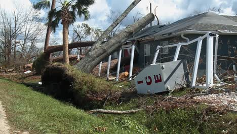 A-Tree-Fell-On-A-House-In-Canal-Park-Florida-Due-To-Hurricane-Michael-2018