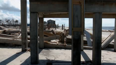 A-Row-Of-Houses-On-the-Beach-Completely-Destroyed-By-Hurricane-Michael-Mexico-Beach-Florida-2018