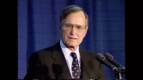 President-George-H-W-Bushs-Speaks-About-Forming-A-Treaty-With-Russia-During-His-Farewell-Speech-To-the-Cia-January-8-1993