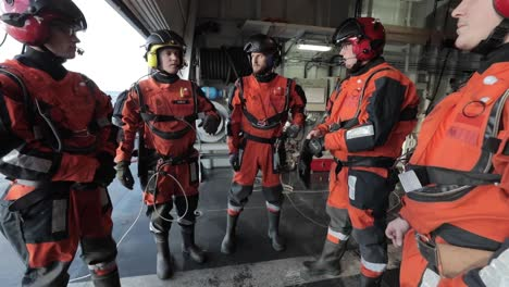 Norwegian-Nato-Helicopter-Crew-Meets-On-the-Deck-Of-An-Aircraft-Carrier-2018