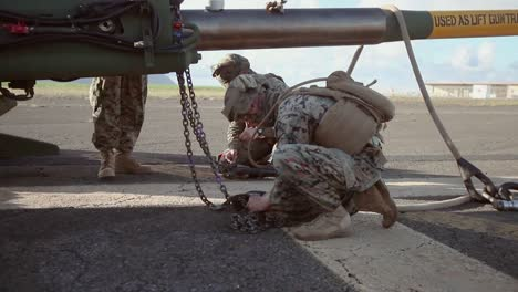 Us-Marines-With-Combat-Logistics-Battalion-(Clb)-3-Participate-In-A-Helicopter-Support-Team-(Hst)-Exercise