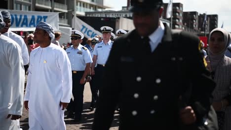 Members-Of-the-United-States-Coast-Guard-March-In-Formation-For-the-Tall-Ships-Festival-Scheveningen-In-the-Netherlands-2019