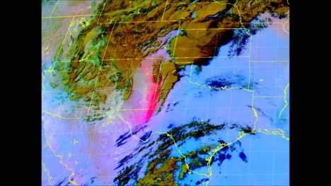 A-Computer-Generated-Weather-Map-Shows-A-Huge-Dust-Plume-Over-the-American-Southwest-2019