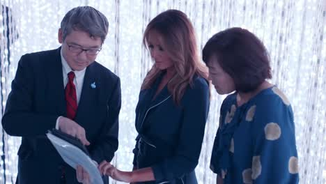 First-Lady-Melania-Trump-And-Mrs-Akie-Abe-Visit-A-Digital-Art-Museum-In-Tokyo-2019
