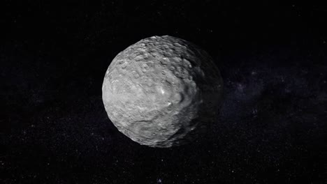 A-Computer-Simulation-Of-A-Fly-Over-Of-Dwarf-Planet-Ceres-2019