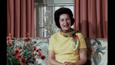 Claudia-Lady-Bird-Johnson-Speaks-About-A-Letter-From-Lyndon-B-Johnsons-Grandfather-Hanging-In-their-Family-Home-June-1968