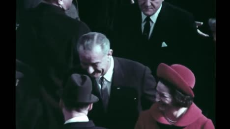 Lyndon-B-Johnson-Receives-A-Standing-Ovation-For-His-Inauguration-Speech-Inaugural-Parade-Begins-1965