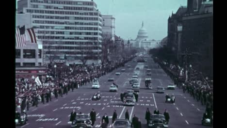 Lyndon-B-Johnsons-Inaugural-Parade-In-Washington-Dc-1965
