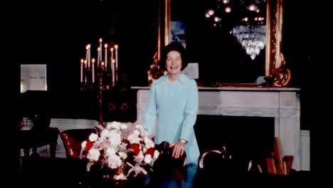 Claudia-Lady-Bird-Johnson-Tells-Stories-Of-the-Treaty-Room-In-the-Living-Quarters-Of-the-White-House-1960S
