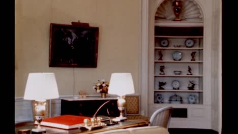 Claudia-Lady-Bird-Johnson-Speaks-About-the-Yellow-Oval-Room-In-the-Living-Quarters-Of-the-White-House-1960S