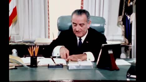 President-Lyndon-B-Johnson-While-Still-In-Office-Reflects-On-Being-President-And-Past-Presidents-1960S