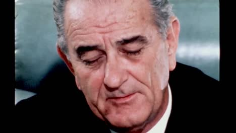 President-Lyndon-B-Johnson-While-Still-In-Office-Reflects-On-Being-And-the-Role-Of-the-President-1960S