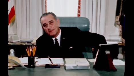 President-Lyndon-B-Johnson-Reflects-On-Not-Making-All-His-Dreams-Come-True-But-Is-Proud-To-Have-Had-His-Chance-1960S