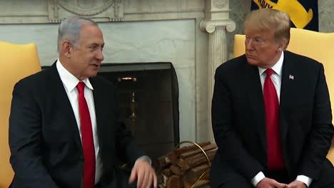 El-Primer-Ministro-Israelí-Benjamin-Netanyahu-Y-El-Presidente-Trump-Hablan-Con-La-Prensa-Desde-La-Oficina-Oval-De-Marzo-De-2019