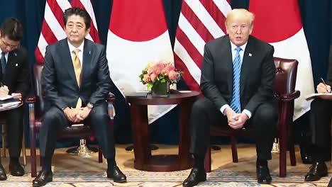 El-Presidente-Trump-Habla-Sobre-El-Primer-Ministro-Japonés-Shinzo-Abe-Que-Quiere-Ayudar-A-Corea-Del-Norte-2019