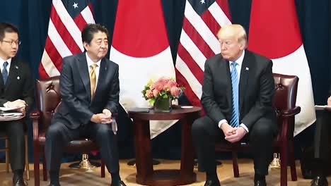 Japanese-Prime-Minister-Shinzo-Abe-And-President-Trump-Speak-Strengthening-the-Economic-Ties-Between-America-And-Japan