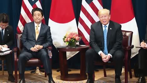 El-Presidente-Trump-Y-El-Primer-Ministro-Japonés-Shinzo-Abe-Dicen-Que-Corea-Del-Norte-Tiene-Un-Gran-Potencial-Económico-En-2019
