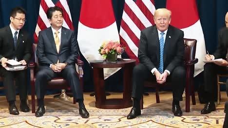 El-Presidente-Trump-Habla-Sobre-El-Juego-De-La-Estafa-Que-Los-Demócratas-Están-Jugando-Conferencia-De-Prensa-Con-El-Primer-Ministro-Japonés-Shinzo-Abe-2019