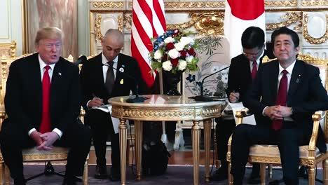 El-Presidente-Trump-Hablará-Y-El-Primer-Ministro-Japonés-Shinzo-Abe-Discutirán-Las-Tres-Cosas-Del-Comercio-Militar-Y-Corea-Del-Norte-En-Su-Reunión-Bilateral-2019