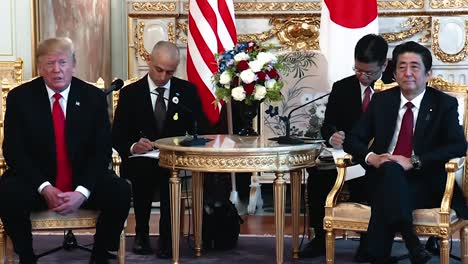 President-Trump-Speaks-About-Japan-Buying-Military-Equipment-From-the-Us-Press-Conference-With-Japanese-Prime-Minister-Shinzo-Abe-2019
