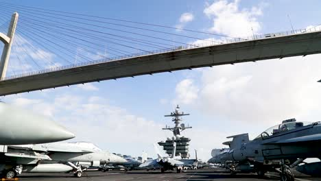 Real-Time-Of-Nimitzclass-Aircraft-Carrier-Uss-Abraham-Lincoln-Transiting-Egypts-Suez-Canal