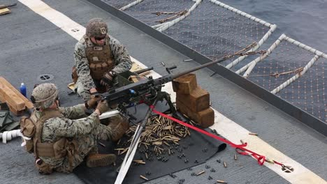 Us-Marines-Fire-Machine-Guns-To-Maintain-Heavy-Weapons-Proficiency-While-Aboard-the-Uss-Germantown-East-China-Sea-6