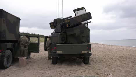 Us-Army-5th-Battalion-4th-Air-Defense-Artillery-Regiment-Conducts-Military-Exercises-With-Latvia-And-Lithuania-In-Latvia-1