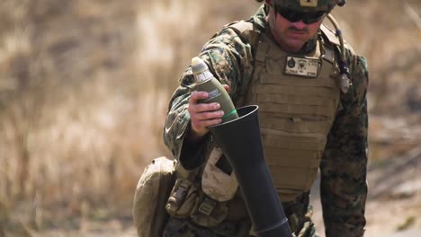 Us-Marines-Infantry-Unit-Leader-Course-Fire-M252-Mortar-Systems-At-Marine-Corps-Base-Camp-Pendleton-California-1