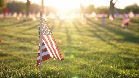Slow-Motion-Broll-Of-Flags-Monuments-And-Graves-In-the-Rhode-Island-Veterans-Memorial-Cemetery-Exeter-Ri-1