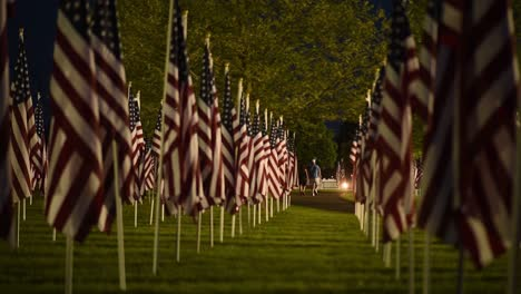 Slow-Motion-Of-Flags-And-Visitors-To-A-Memorial-Day-Field-Of-Heroes-Display-In-Honoring-Americas-War-Dead-1