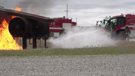 Slow-Motion-788th-Civil-Engineer-Squadron-Firemen-Train-To-Extinguish-Flames-Wrightpatterson-Air-Force-Base-Ohio-1