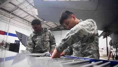 Air-Force-334th-Amu-Weapons-Technicians-Inventory-Parts-And-Maintain-Aircraft-At-Seymour-Johnson-Air-Force-Base-Nc