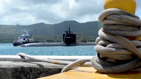Los-Angeles-Clase-Submarinos-De-Ataque-Rápido-Y-Tránsito-De-La-Tripulación-De-La-Marina-Apra-Harbour-Base-Naval-De-Guam