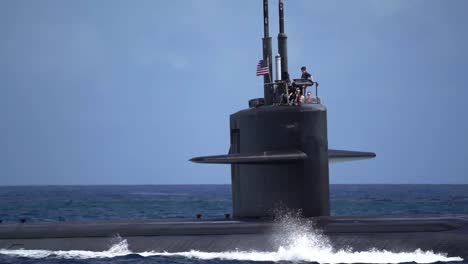 Los-Angeles-Class-Fast-Attack-Submarines-And-Navy-Crew-Transit-Apra-Harbor-Naval-Base-Guam-2