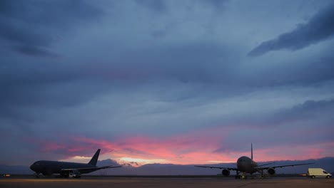 Sunrise-Timelapse-Of-97th-Air-Mobility-Wing-Kc46-Pegasuss-At-Altus-Afb-Prepping-For-A-Severe-Weather-Exercise-Ok