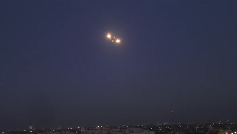 Us-Army-Ah64-Apache-Helicopters-Drop-Flares-Near-the-Us-Embassy-As-A-Deterrence-Against-Protestors-Baghdad-Iraq