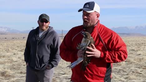 Dpg-Libera-Al-Medio-Ambiente-Aves-Rapaces-Heridas-Del-Cautiverio-En-El-Desierto-Cerca-De-Dugway-Probando-Los-Terrenos-Utah