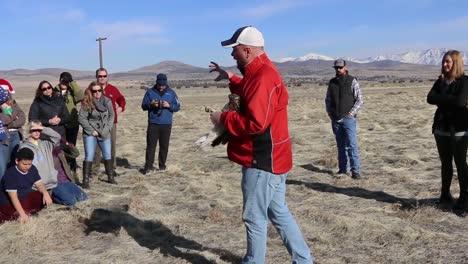 Dpg-Libera-Al-Medio-Ambiente-Aves-Rapaces-Heridas-Del-Cautiverio-En-El-Desierto-Cerca-De-Dugway-Probando-Los-Terrenos-Utah-1