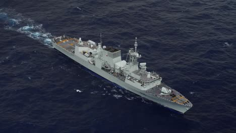 Aerials-Of-Multinational-Ships-Sailing-In-Formation-During-the-Strategic-Naval-Exercise-Rim-Of-the-Pacific