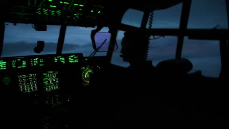 Noctural-Cockpit-Clips-Of-Pilots-And-Crew-From-the-53Rd-Weather-Reconnaissance-Squadron-Fly-A-Mission-Into-Hurricane-Laura