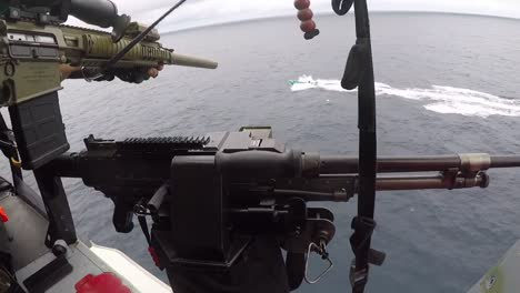 Helicopter-Interdiction-Tactical-Squadron-Attached-To-the-Coast-Guard-Fires-Warning-Shots-Across-the-Bow-Of-A-Drug-Smuggler
