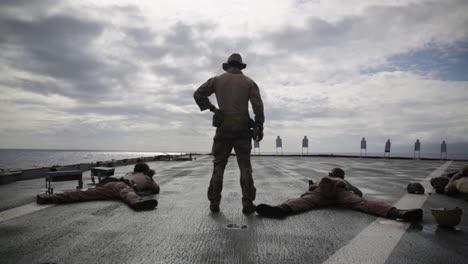 Us-Marines-Deployed-Aboard-the-Amphibious-Dock-Landing-Ship-Uss-Comstock-Conduct-A-Livefire-Range-Exercise