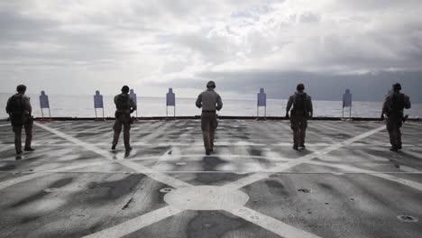 Us-Marines-Deployed-Aboard-the-Amphibious-Dock-Landing-Ship-Uss-Comstock-Conduct-A-Livefire-Range-Exercise-1