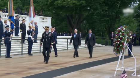 President-Trump-Vicepresident-Pencedefense-Secretary-Esper-Memorial-Day-Ceremony-At-Arlington-National-Cemetery