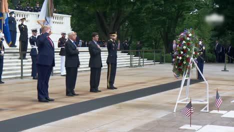 President-Trump-Vicepresident-Pencedefense-Secretary-Esper-Memorial-Day-Ceremony-At-Arlington-National-Cemetery-2