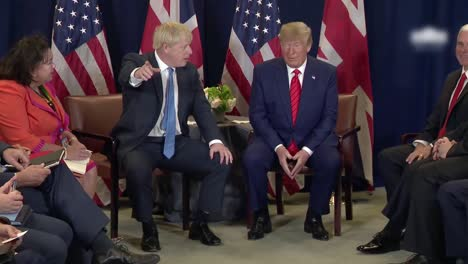British-Prime-Minister-Boris-Johnson-Meets-President-Trump-And-they-Respond-To-Questions-Brexit-And-the-Judiciary