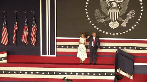 American-President-Donald-Trump-First-Lady-Melania-Trump-Fireworks-July-4th-Celebration-At-Mt-Rushmore-Sd