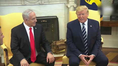 Us-President-Donald-Trump-And-Isreali-Prime-Minister-Benjamin-Netanyahu-During-A-White-House-Press-Briefing-Dc